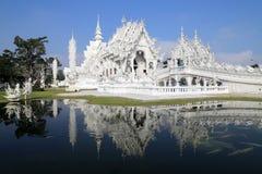 Белый висок в Chiang Rai, Таиланде Стоковая Фотография RF