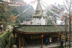 Белый висок утеса в Сычуань, фарфоре Стоковое фото RF