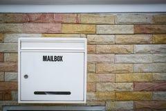 Белый вид почтового ящика Стоковая Фотография