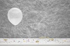 Белый воздушный шар партии, Стоковое Фото