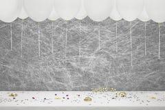 Белый воздушный шар партии, Стоковое Изображение