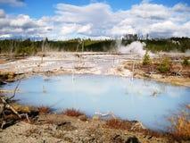 Белый водный бассейн в Йеллоустоне Стоковое фото RF