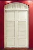 Белый год сбора винограда двери Стоковое Фото
