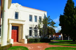 Белый грандиозный дом Стоковое Фото