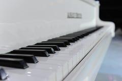 Белый грандиозный рояль стоковое фото rf