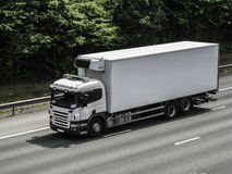 Белый грузовик стоковые изображения