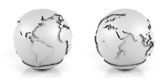 Белый глобус на белой предпосылке иллюстрация штока