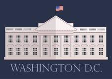 Белый Дом в DC Вашингтона, векторе Стоковая Фотография RF