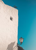 Белый Дом и уличный фонарь Стоковые Изображения