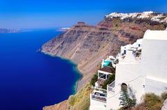 Белые Дома Santorini Стоковые Фотографии RF