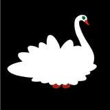 Белый лебедь Стоковые Изображения RF