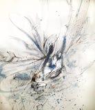 Белый лебедь krystal Стоковые Изображения