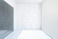 Белый деревянный интерьер Стоковое фото RF