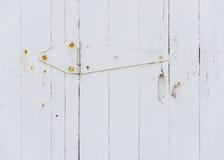 Белый деревянный шарнир двери Стоковое Изображение RF