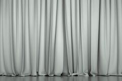 Белый закрытый занавес Стоковые Фотографии RF