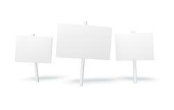 Белый знак Стоковые Фотографии RF
