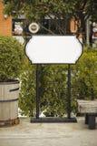 Белый знак Standy стоковые фотографии rf