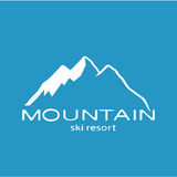 Белый значок горы на голубой предпосылке бесплатная иллюстрация