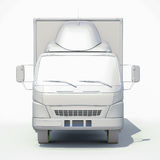 белый значок тележки поставки 3d Стоковое фото RF