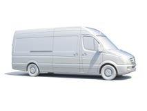 белый значок Van поставки 3d Стоковая Фотография