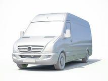 белый значок Van поставки 3d Стоковые Фотографии RF