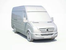 белый значок Van поставки 3d Стоковые Изображения