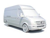 белый значок Van поставки 3d Стоковые Изображения RF