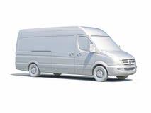 белый значок Van поставки 3d Стоковые Фото