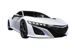 Белый изолированный автомобиль спорт Стоковые Изображения