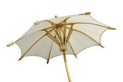 Белый изолированный зонтик Стоковые Фотографии RF