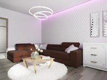 Белый интерьер живущей комнаты Стоковые Фото