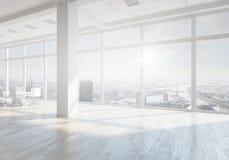 Белый интерьер офиса Мультимедиа стоковая фотография