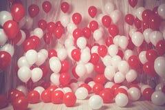 Белый и красный цвет раздувает предпосылка Фильтр Instagram Стоковое фото RF