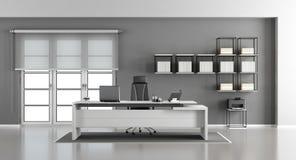 Белый и серый современный офис иллюстрация штока