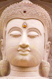 Белый каменный высекая Будда с naga 01 Стоковые Фото