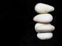 Белый камень II Дзэн стоковое изображение rf
