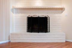 Белый камин Стоковая Фотография RF