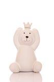Белый керамический медведь Стоковое Изображение RF