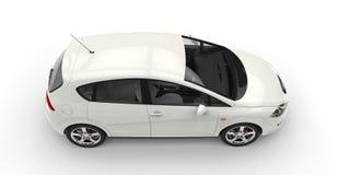Белый компактный автомобиль Стоковое Фото