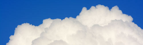 Белый конец облака вверх стоковая фотография rf