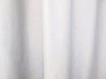 Белый конспект предпосылки ткани с мягкими волнами Стоковое Изображение