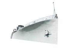 Белый корабль на белой предпосылке Стоковые Изображения