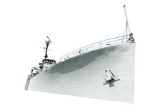 Белый корабль на белой предпосылке Стоковые Изображения RF