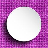Белый круг вектора Предпосылка Sequin 10 eps Стоковое Фото