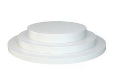 Белый круглый подиум постамент место стоковые изображения