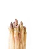 Белый крупный план пачки спаржи, на белизне Стоковые Фотографии RF