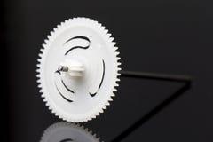 Белый крупный план шестерни Стоковое фото RF