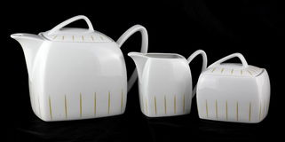 Белый классический комплект фарфора Стоковая Фотография