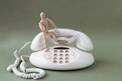 Белый классический телефон стоковая фотография