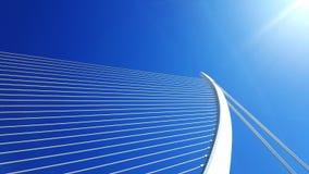 Белый мост арфы в Валенсии Стоковая Фотография
